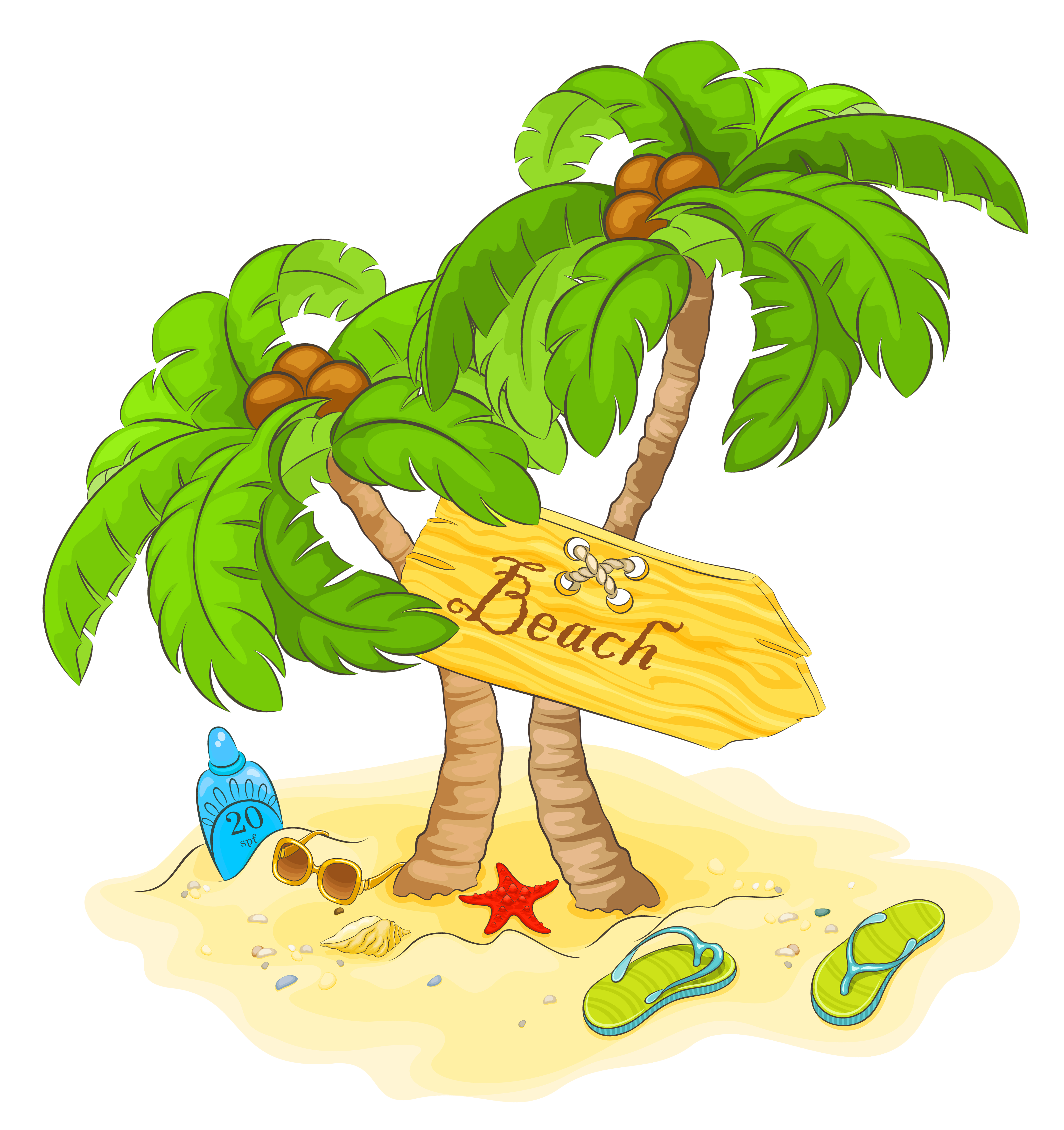 clip freeuse Transparent palm decor png. Beach clipart