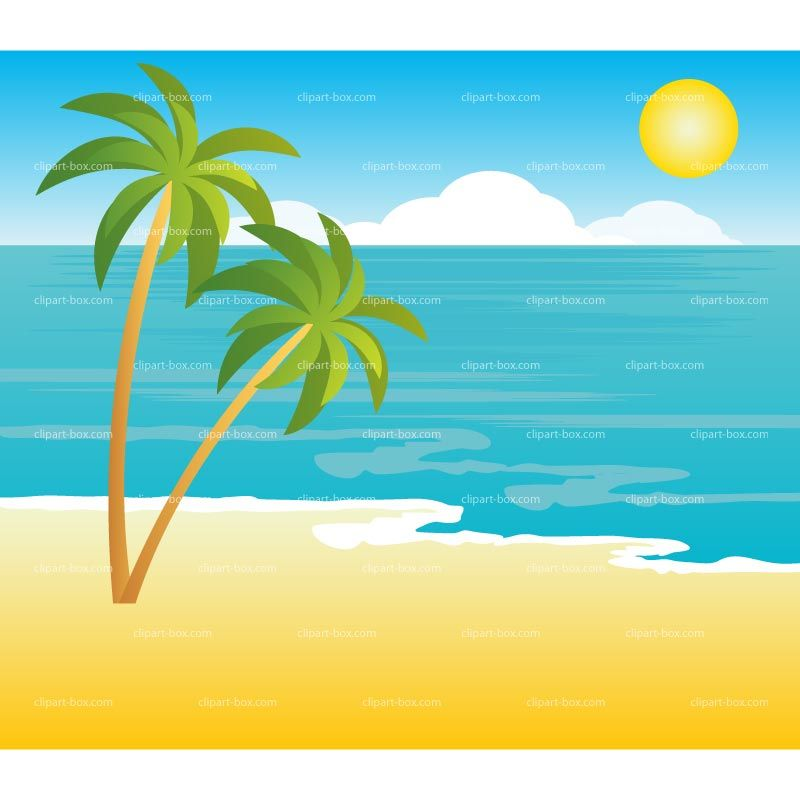 image free Beach clipart. Tropical landscape royalty free.
