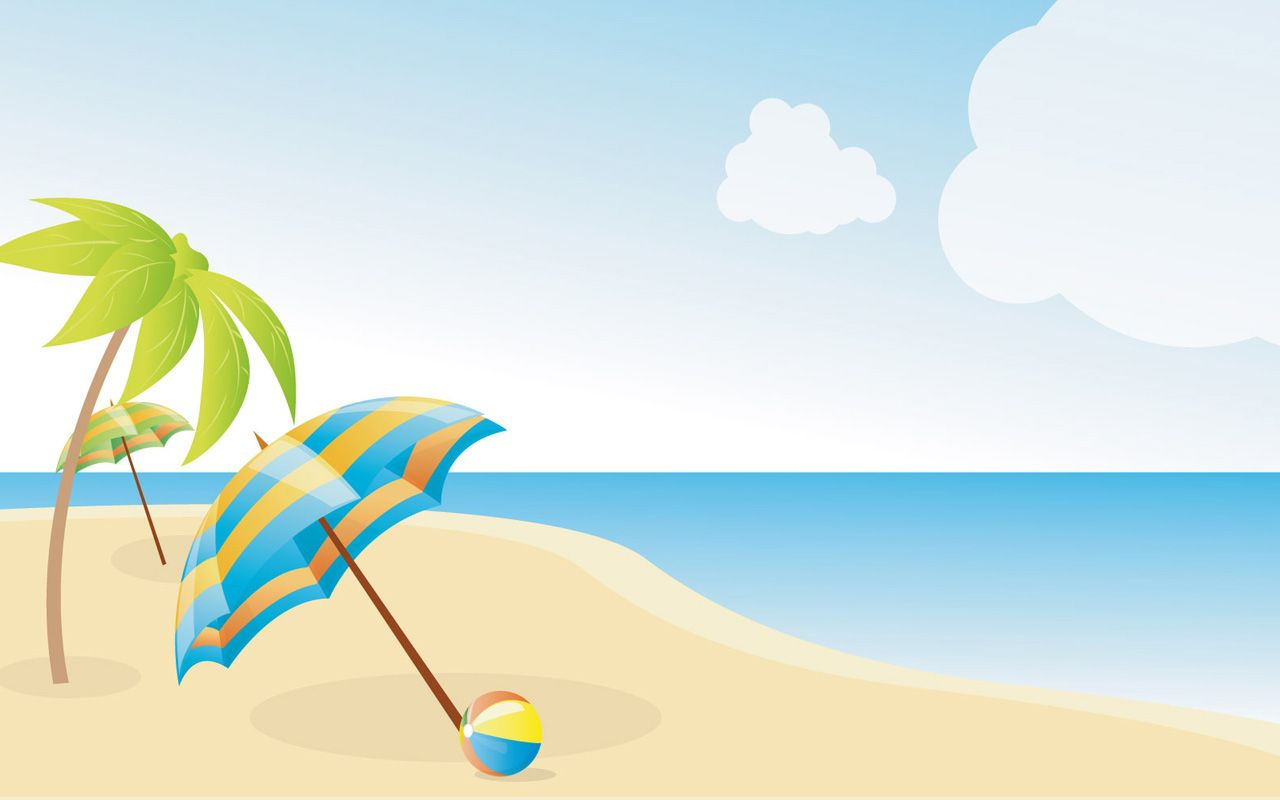 image black and white Clip art summer wallpapers. Beach clipart.