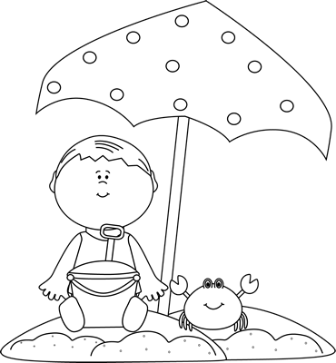 picture transparent library summer clipart black and white black and white boy playing on the