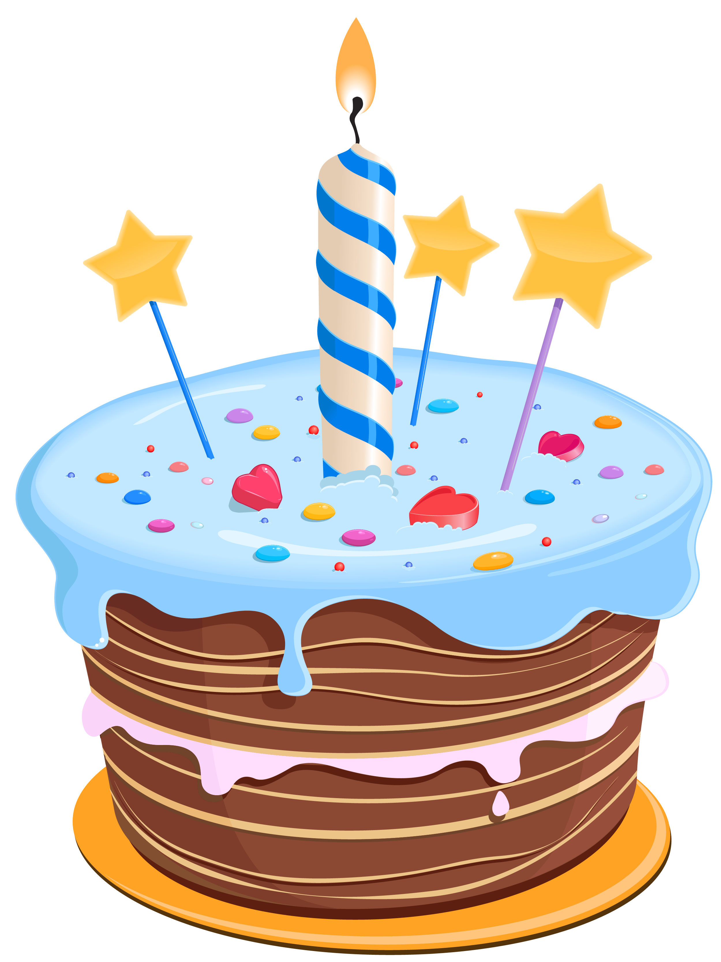 transparent library Beach clipart cake. Birthday with stars png.