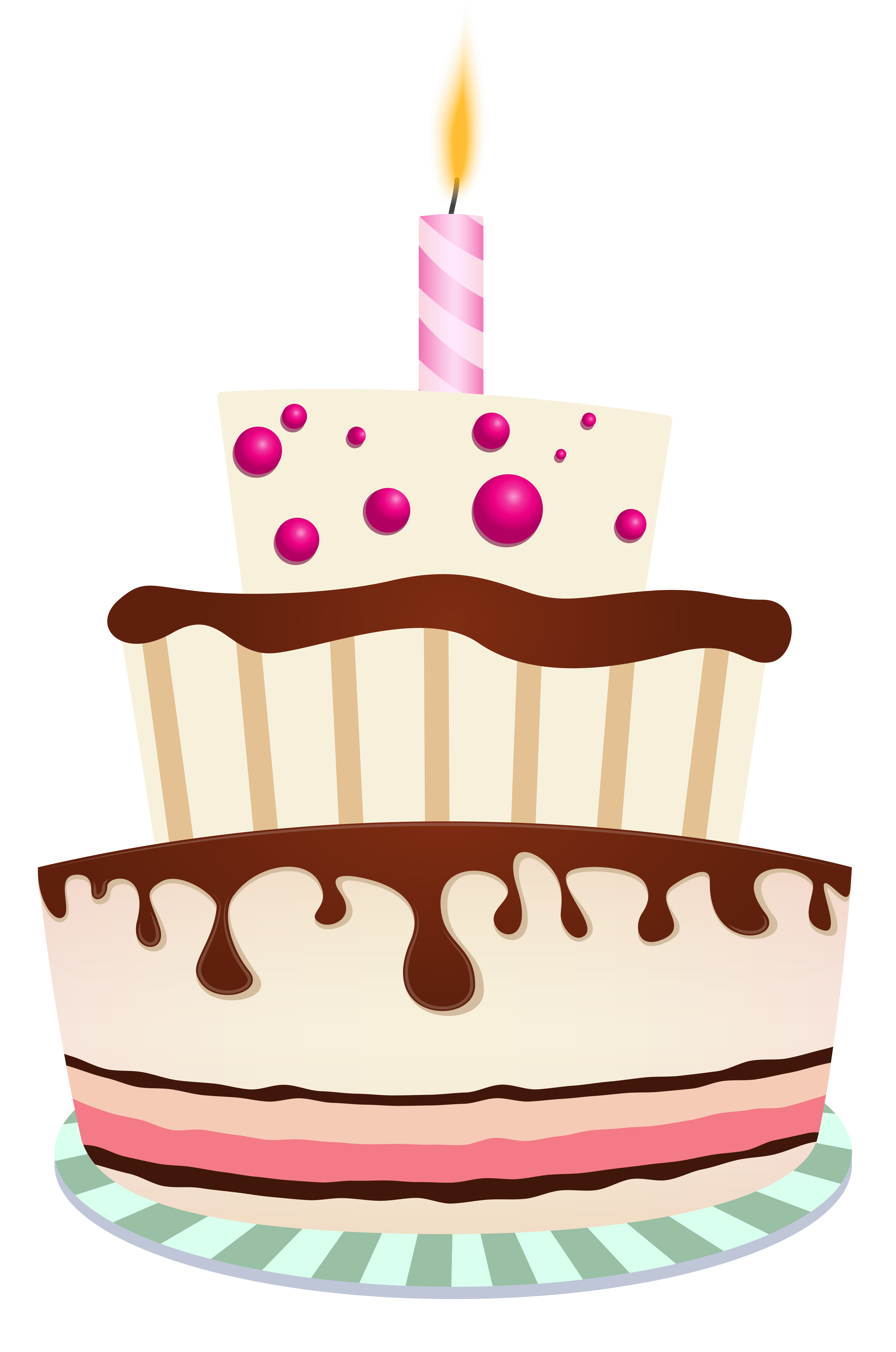clipart freeuse stock Birthday with one candle. Beach clipart cake.
