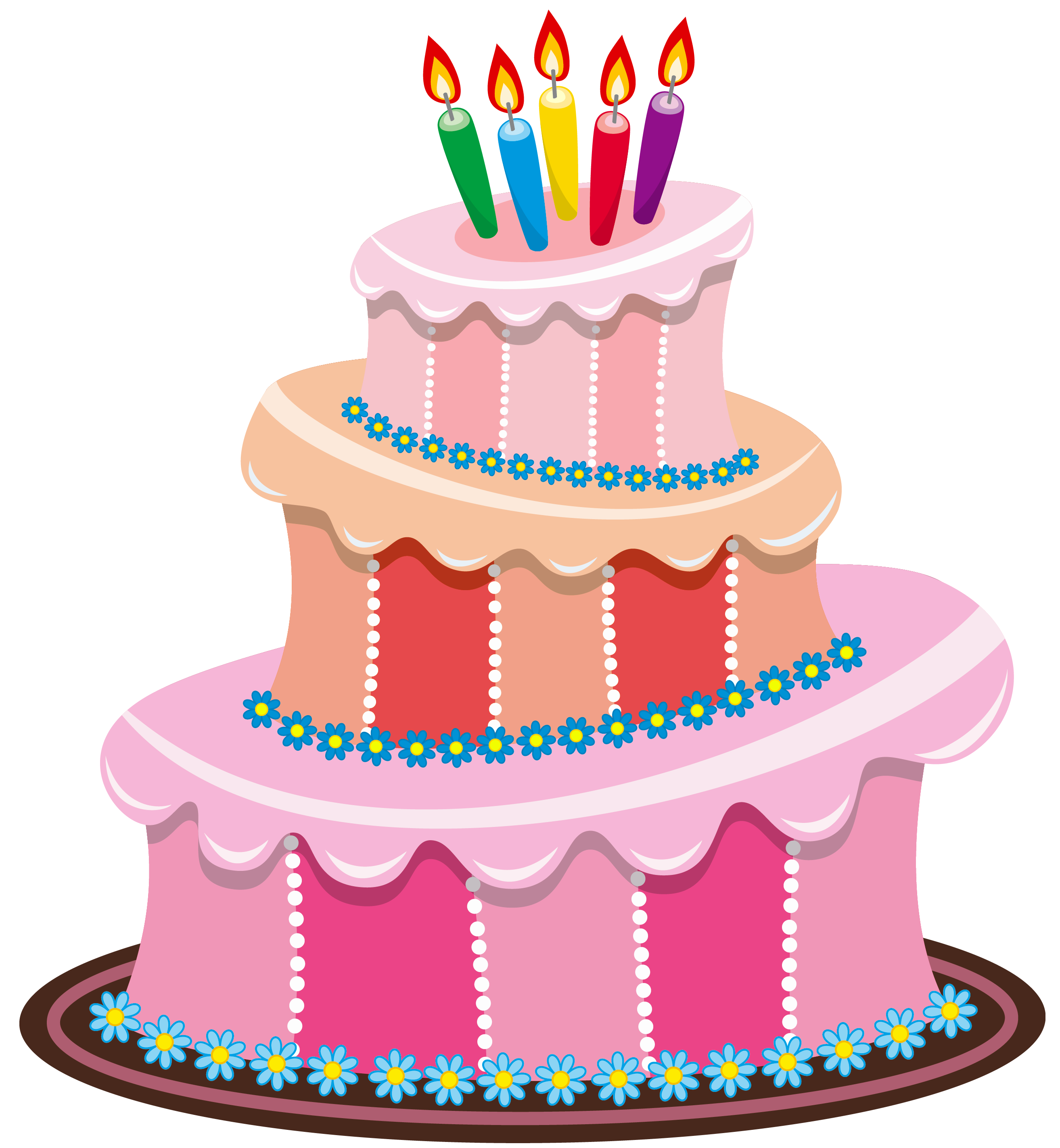 svg freeuse download Pink birthday png gallery. Beach clipart cake.
