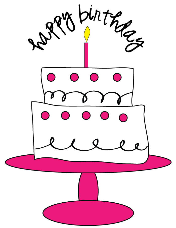 banner black and white stock Beach clipart cake. Free birthday for craft.