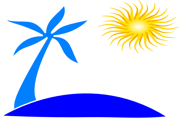 picture freeuse library Sunset Clipart coconut tree