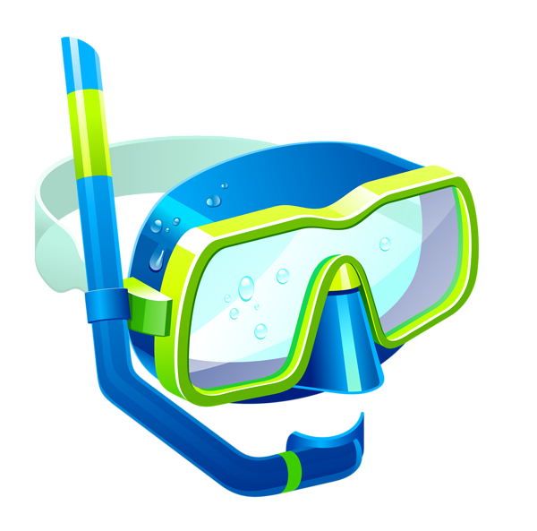 png freeuse stock Transparent blue snorkel mask. Goggles clipart beach