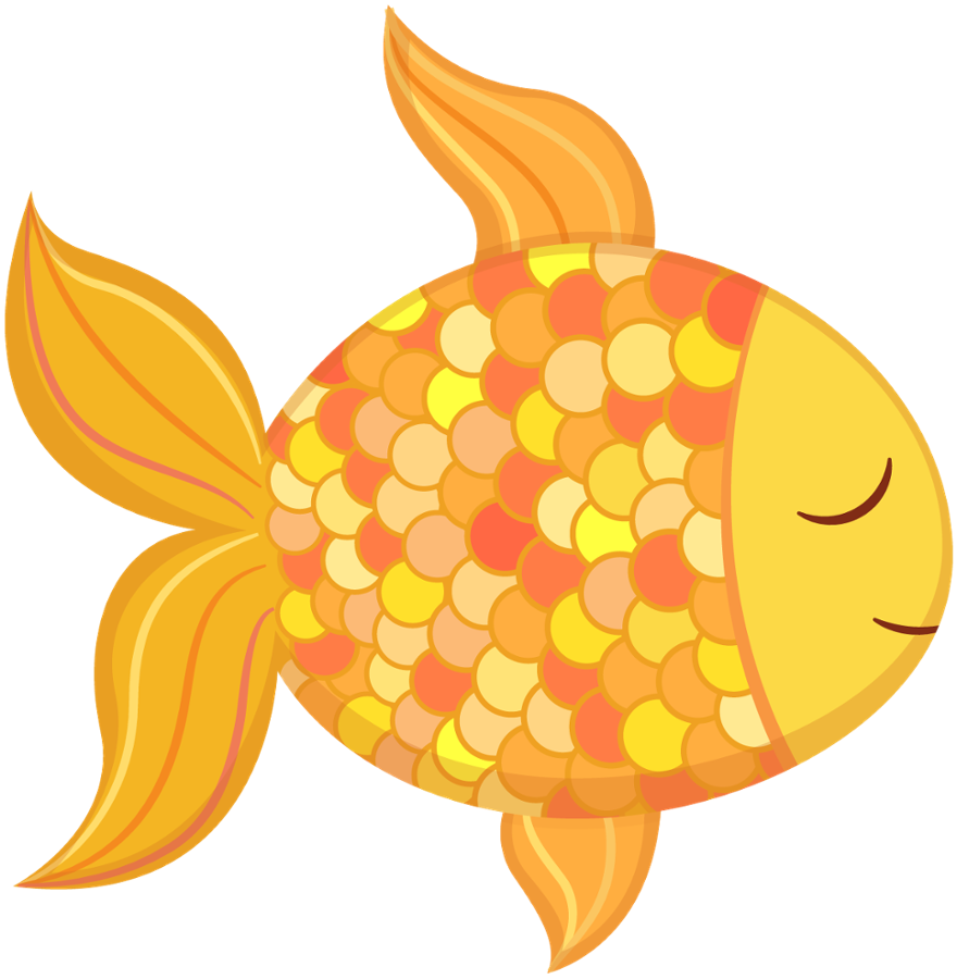 png black and white download Fish beach free on. Goldfish clipart isda