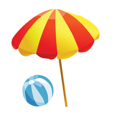 clip download Baby items on the. Beach clipart.
