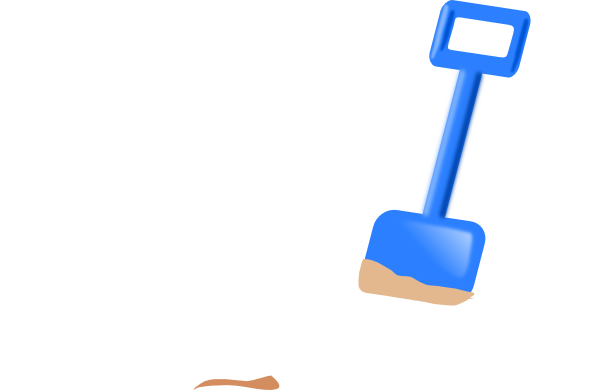 clip art freeuse stock Spade In The Sand Clip Art at Clker