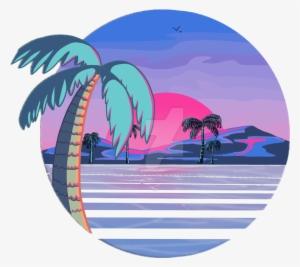 jpg Beach transparent aesthetic. Vaporwave png image free
