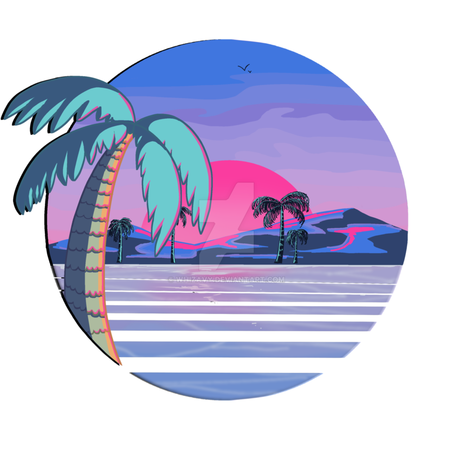 picture transparent stock Beach transparent aesthetic. Vaporwave redbubble by whizavy