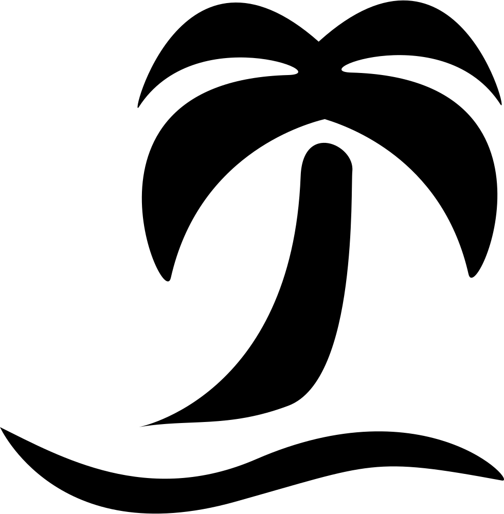 vector library download Beach transparent black and white. Hd png file svg