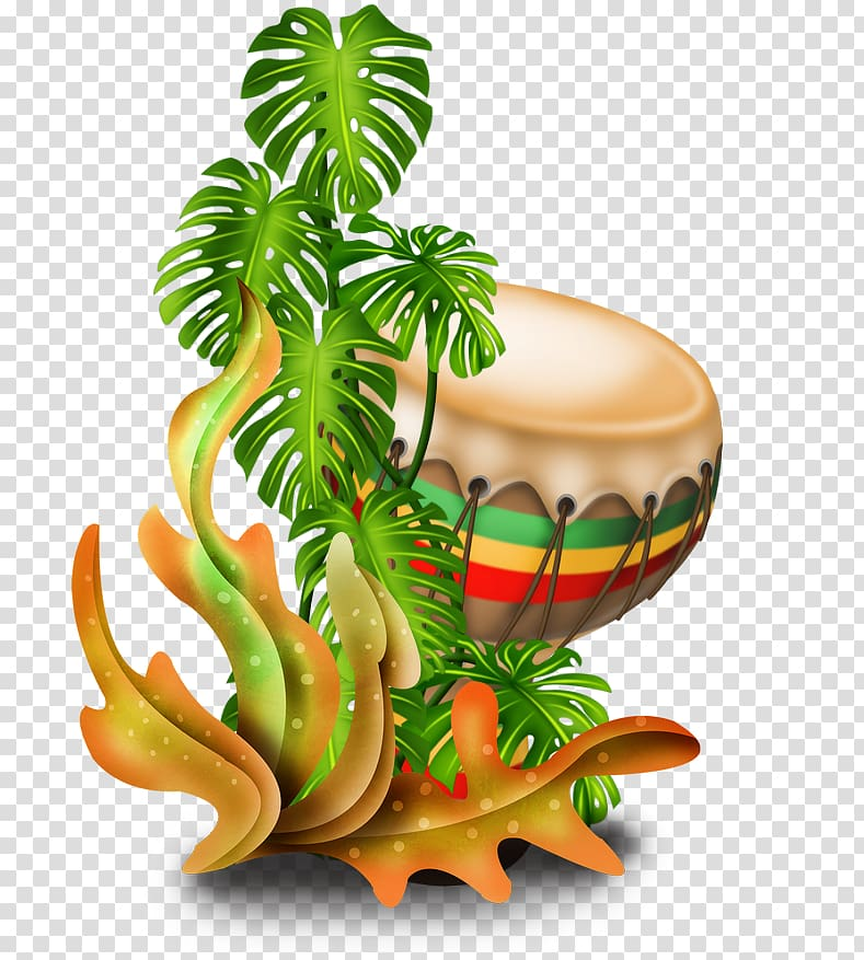 svg black and white library Beach transparent hawaiian. Brown drum and plant