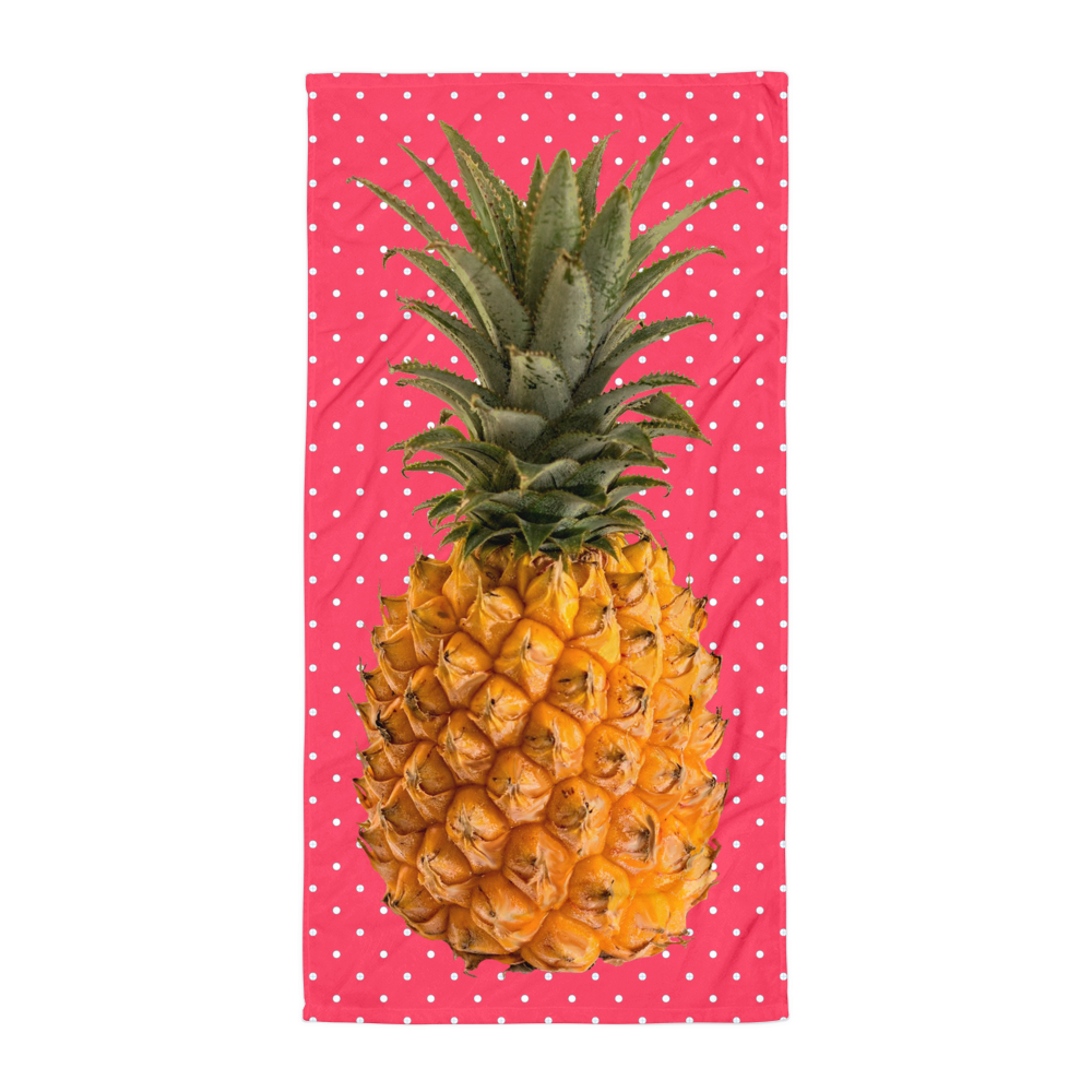 vector library Polka dots blanket mod. Beach transparent pineapple