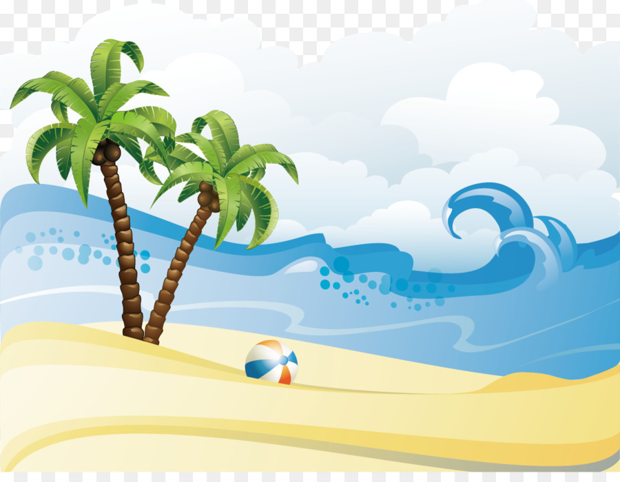 clip art black and white stock Palm tree . Beach transparent summer