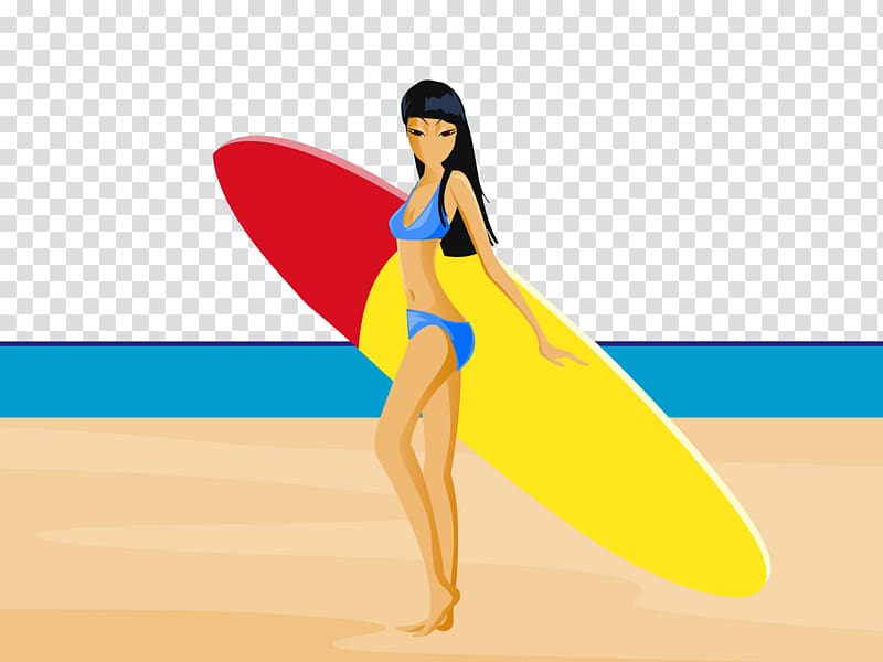 picture transparent stock Beach transparent surfer. Surfing cartoon background