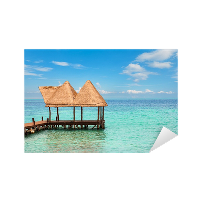 image transparent download Dock in a caribbean. Beach transparent water