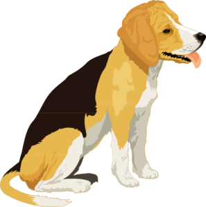 clip library stock Yellow and black clip. Beagle clipart
