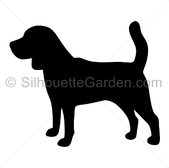 jpg library Silhouette clip art download. Beagle clipart