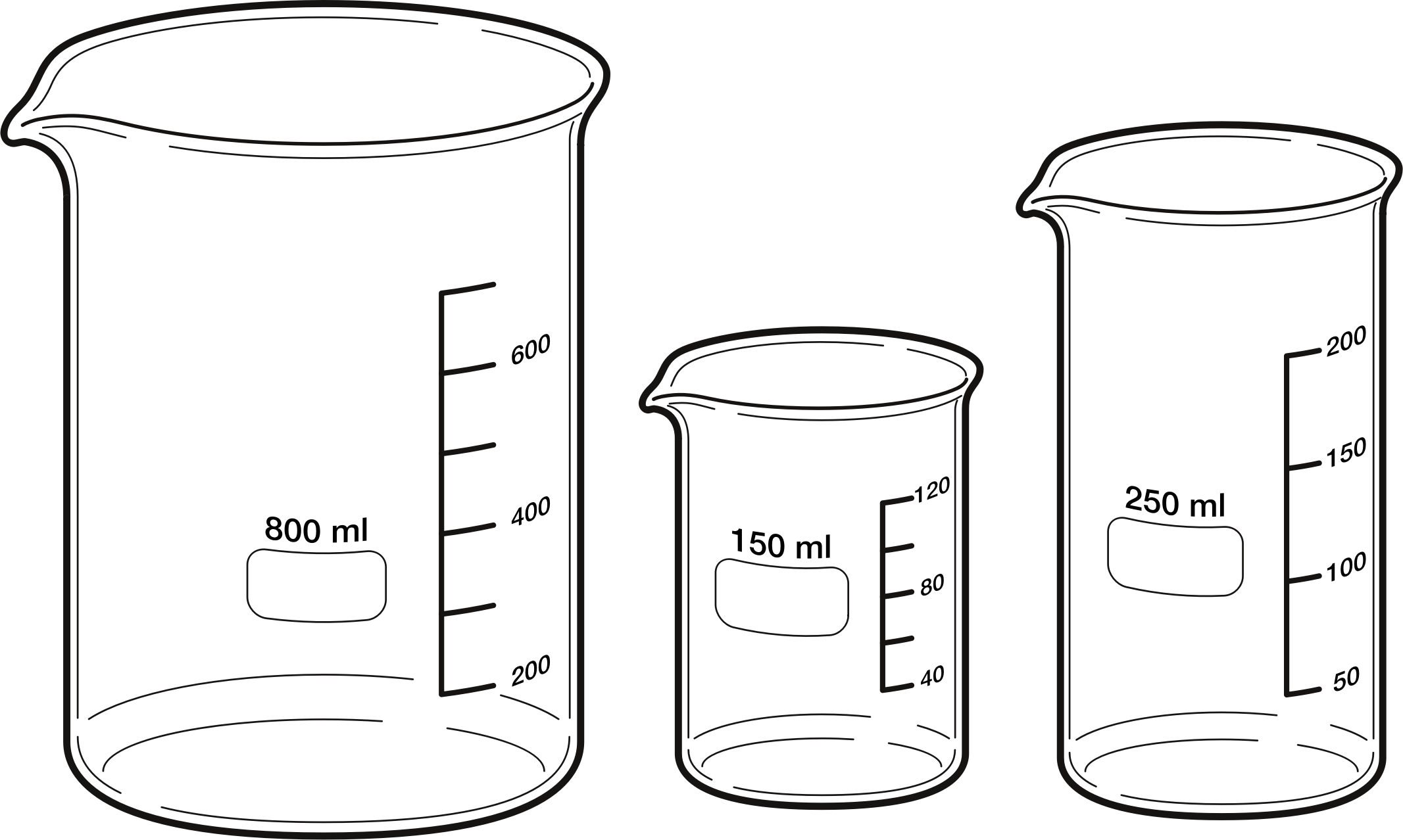 image royalty free library Clipart beakers big image. Beaker transparent