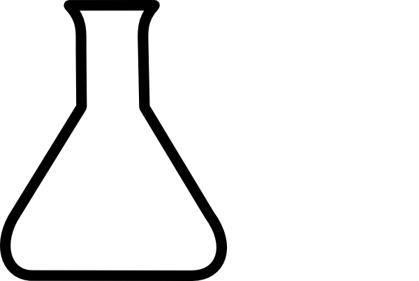 jpg free stock Beaker transparent empty. Clipart chemistry black and