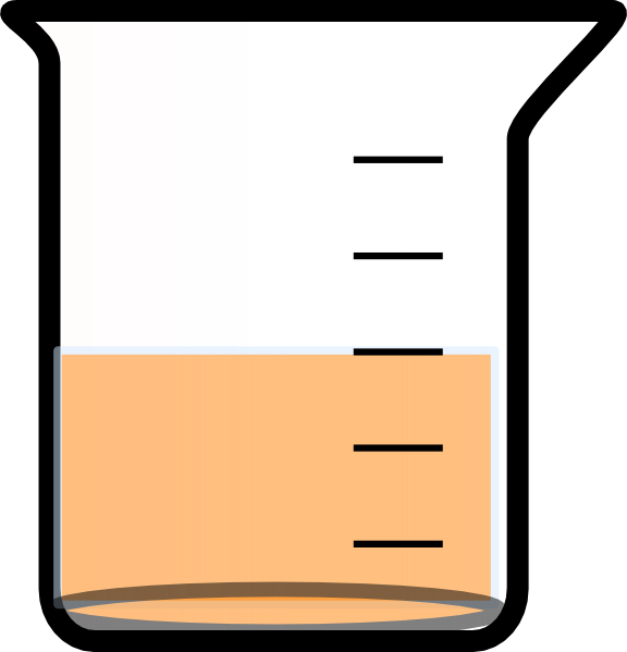 png library Beaker clipart liquid clipart. With painted bottom and.