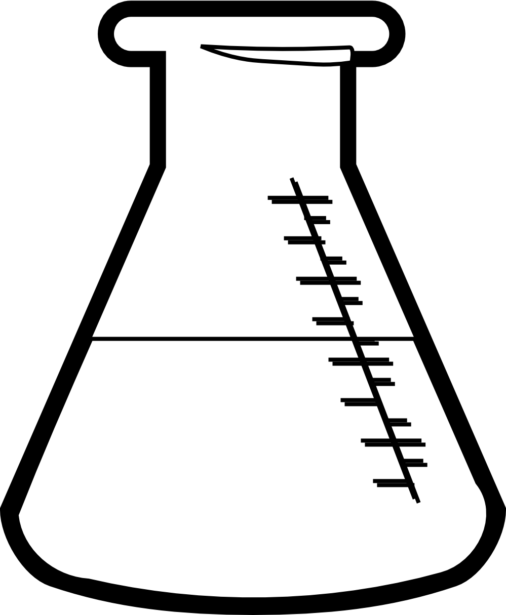 clip transparent download Science beaker drawing at. Bottle clipart chemistry
