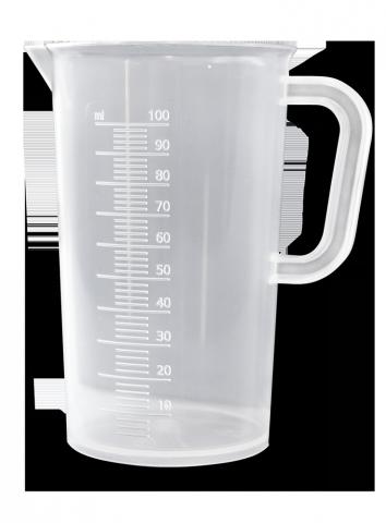 picture library library Beaker transparent 100 ml. Measuring fermentation multikraft onlineshop