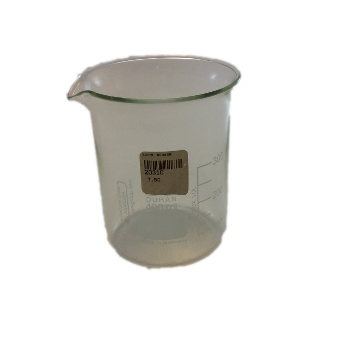 vector royalty free Beaker transparent 400 ml.  vector png for