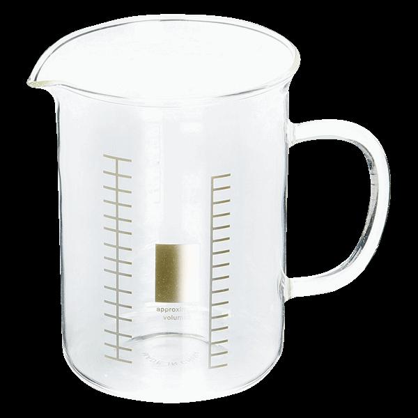 banner download Beaker transparent 400 ml. Laboratory mug zing pop