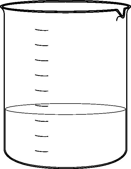 banner transparent stock Beaker transparent black and white. Clip art at clker