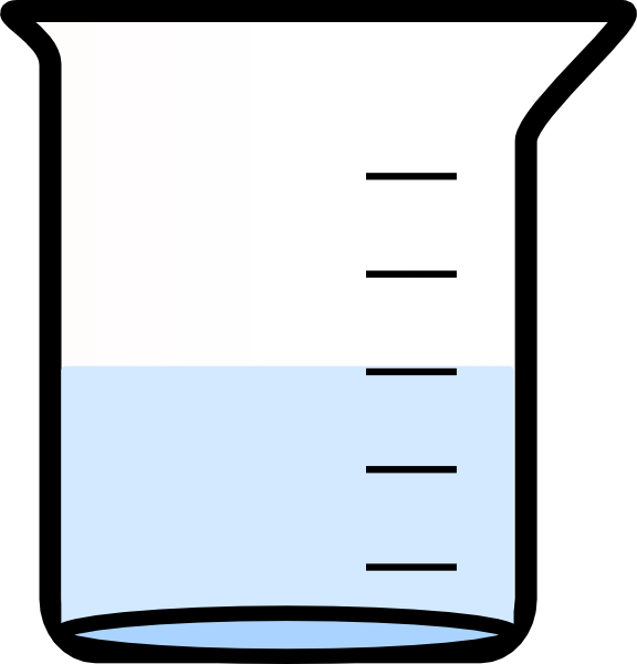 png stock Beaker With Water Clip Art at Clker