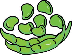 clipart transparent stock Bean clipart. Panda free images parsleyclipart.
