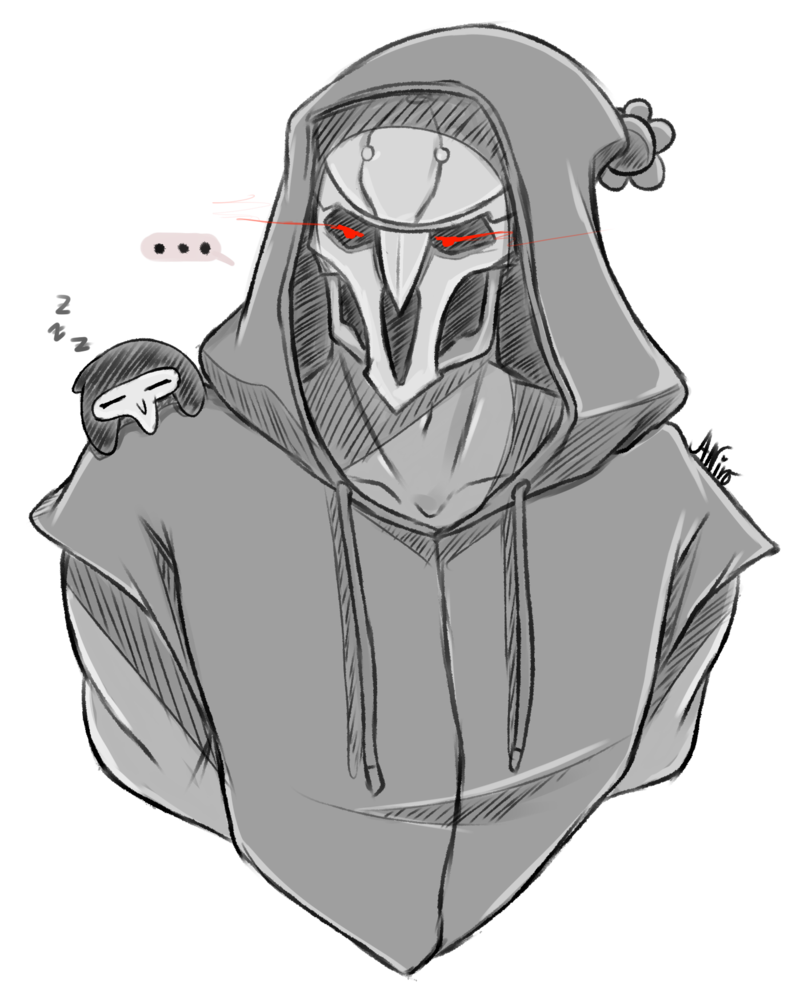 svg download Overwatch edgy and reapers. Bean drawing anime