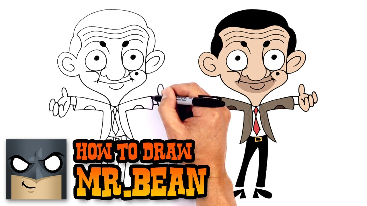 clip royalty free Bean drawing cartoon. How to draw mr