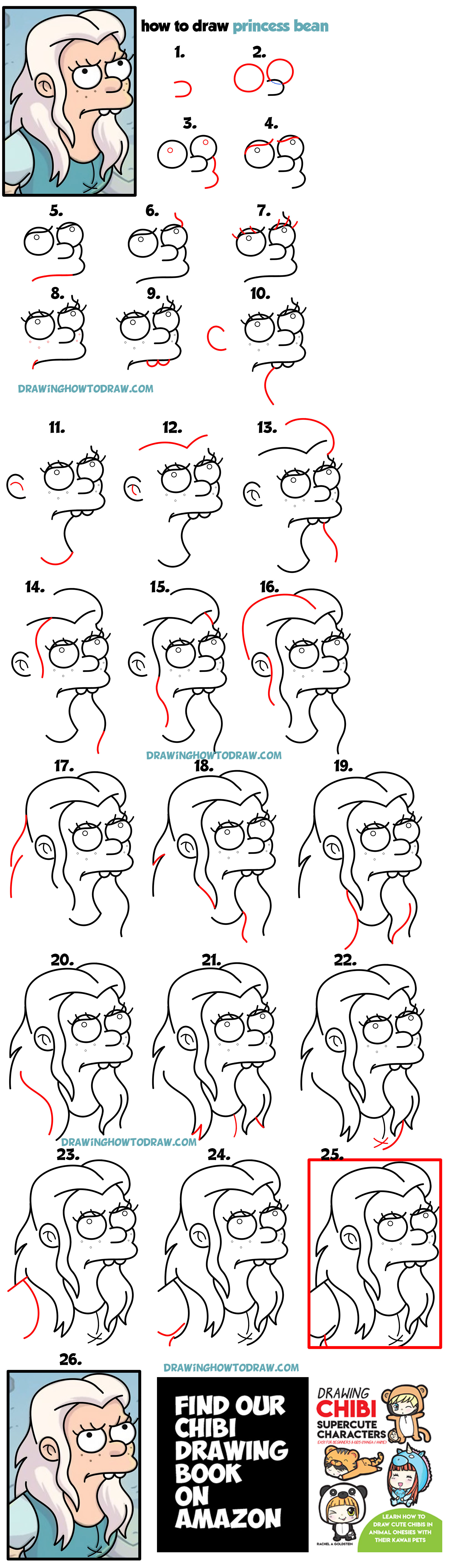 clip royalty free stock Learn how to draw. Bean drawing chibi