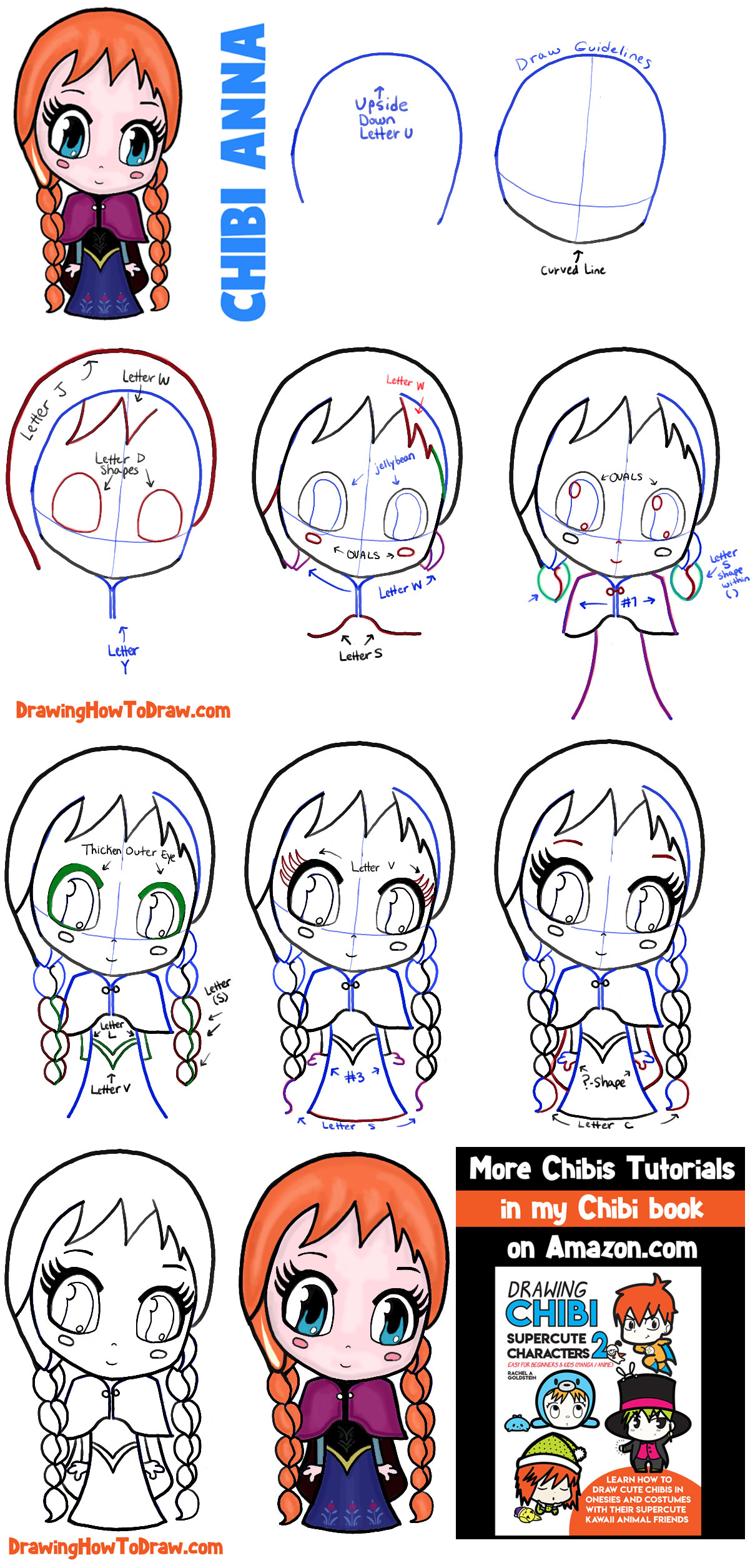 graphic free download Bean drawing chibi. How to draw anna