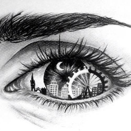 banner London this is a. Bean drawing eye