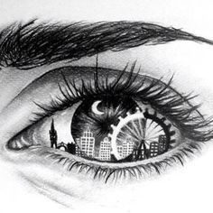 picture black and white stock Bean drawing eye. This is a maze