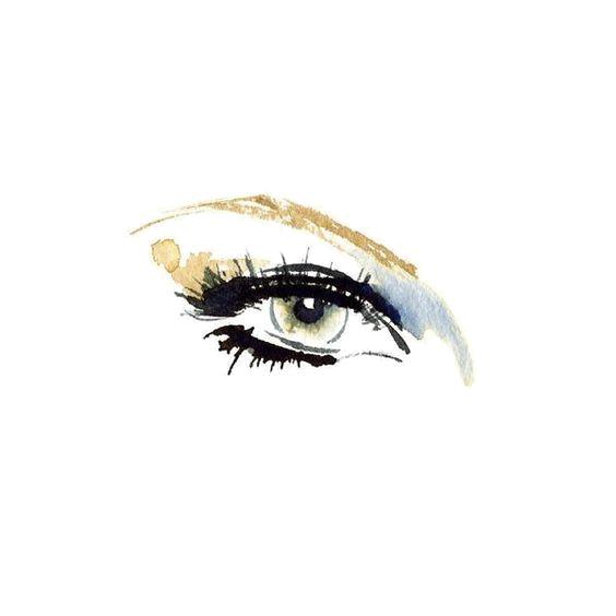black and white Illustrator art fashion illustration. Bean drawing eye