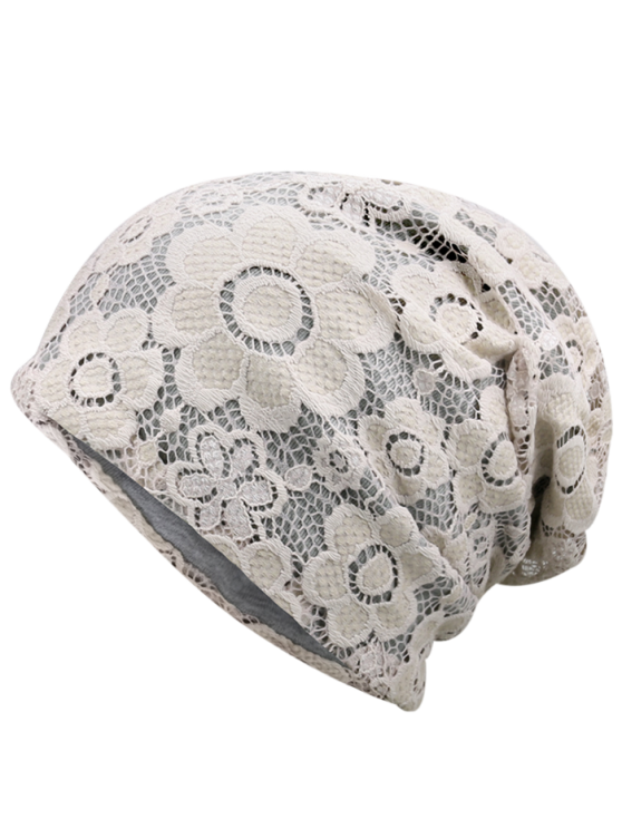 vector free library Lace striking breathable hat. Beanie transparent floral