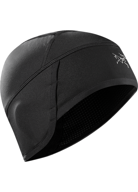 graphic black and white Beanie transparent hat. Trino arc teryx