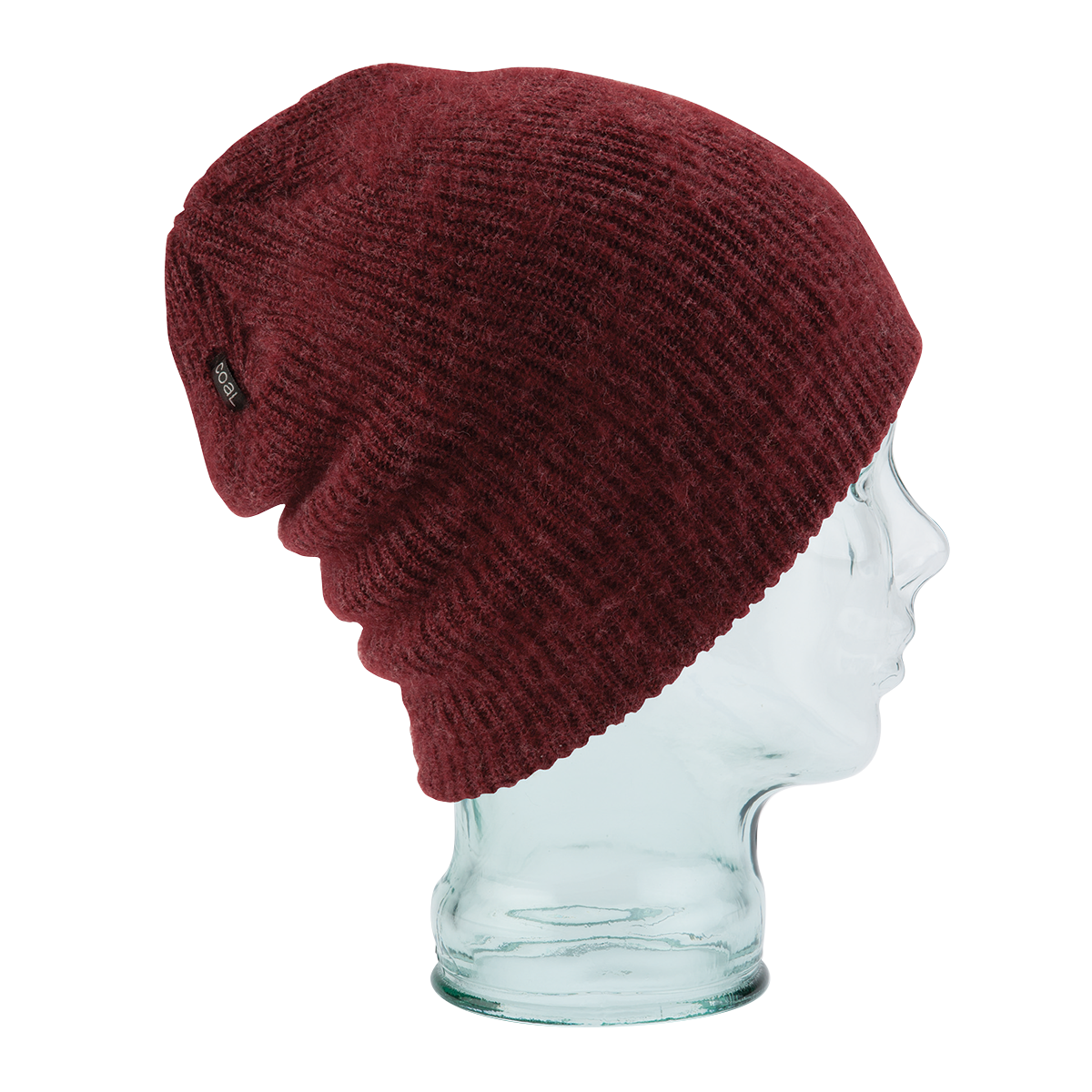 banner black and white stock Beanie transparent maroon. Coal hats the scotty