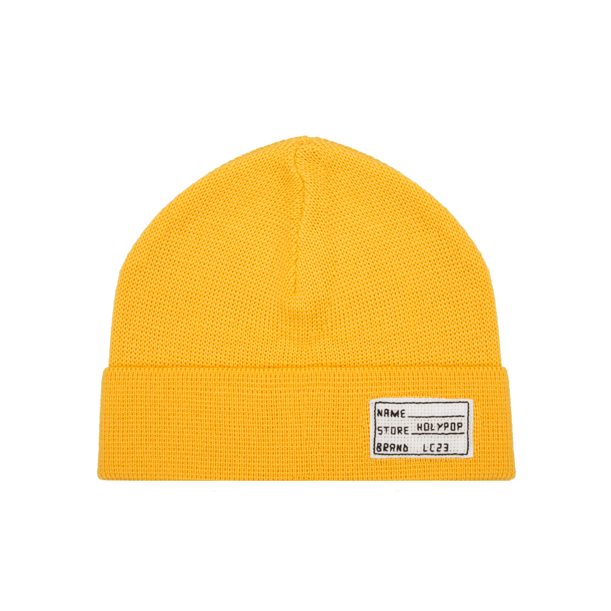 png download Lc basic yellow caps. Beanie transparent orange