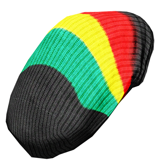vector black and white stock beanie transparent rasta #109841886
