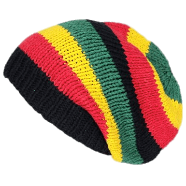 graphic black and white library Beanie transparent rasta. Hat png stickpng