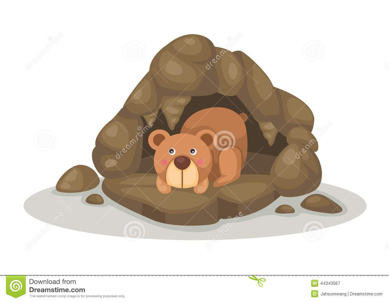 svg library stock Bear cave clipart. Portal
