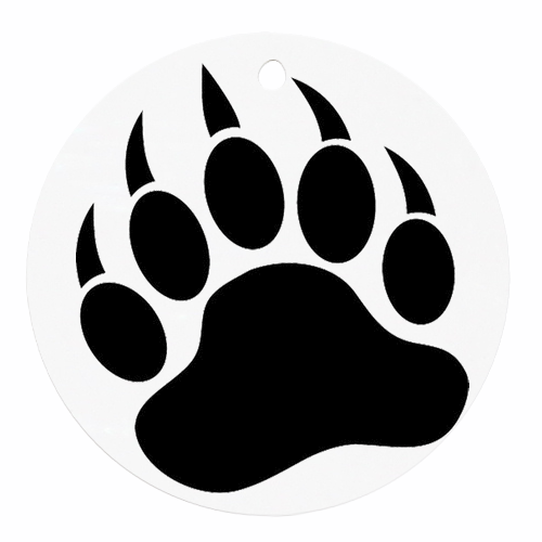banner black and white library Bear claw clipart. Grizzly paw print free