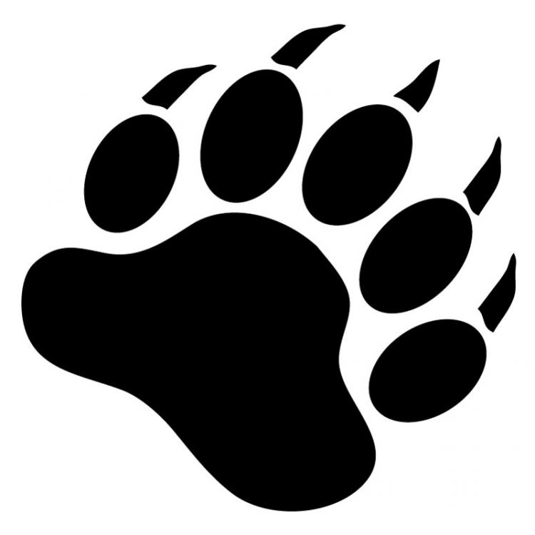 image black and white Wikiclipart . Bear claw clipart