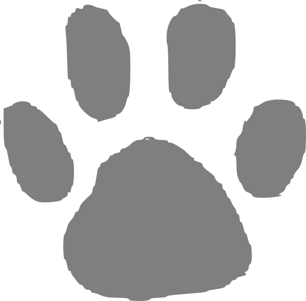banner royalty free library Paw clip art at. Bear claw clipart